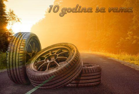10 godina postojanja kompanije Internet prodaja guma